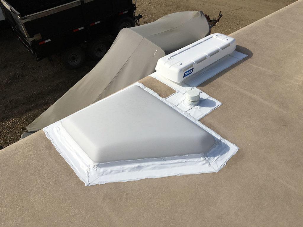 RV Mobile Edmonton - RV Roof Reseal and Repari